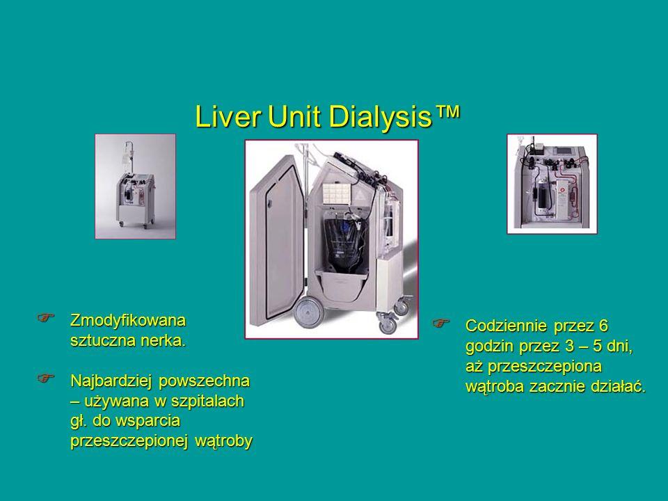 Liver Unit Dialysis™ Zmodyfikowana sztuczna nerka.