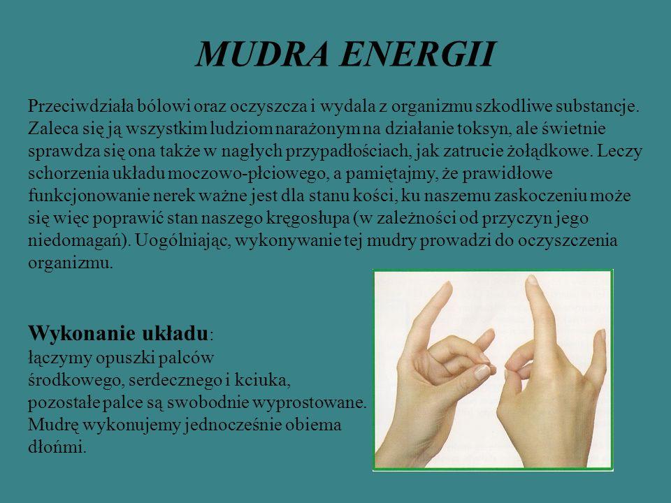 MUDRA ENERGII Wykonanie układu: