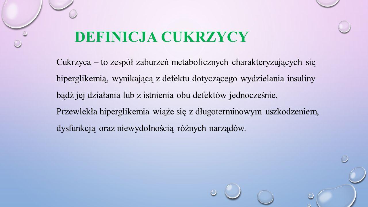 DEFINICJA CUKRZYCY