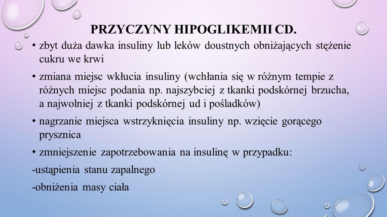 Przyczyny hipoglikemii cd.