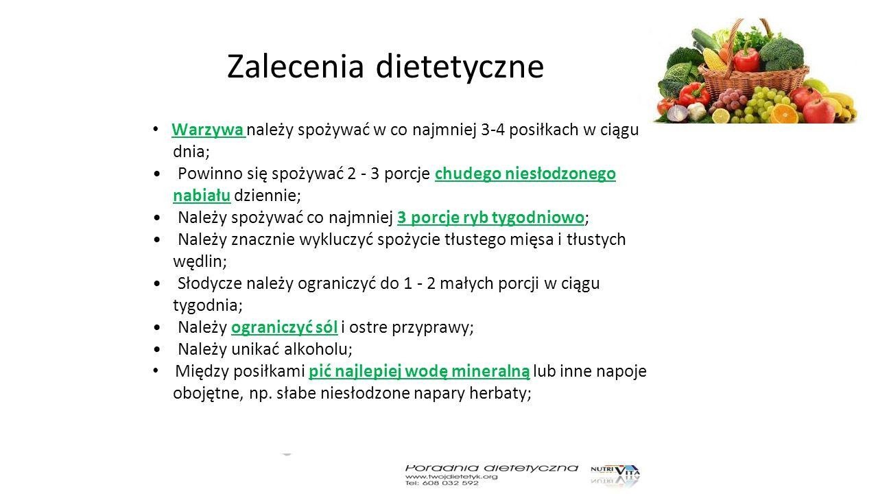 Zalecenia dietetyczne