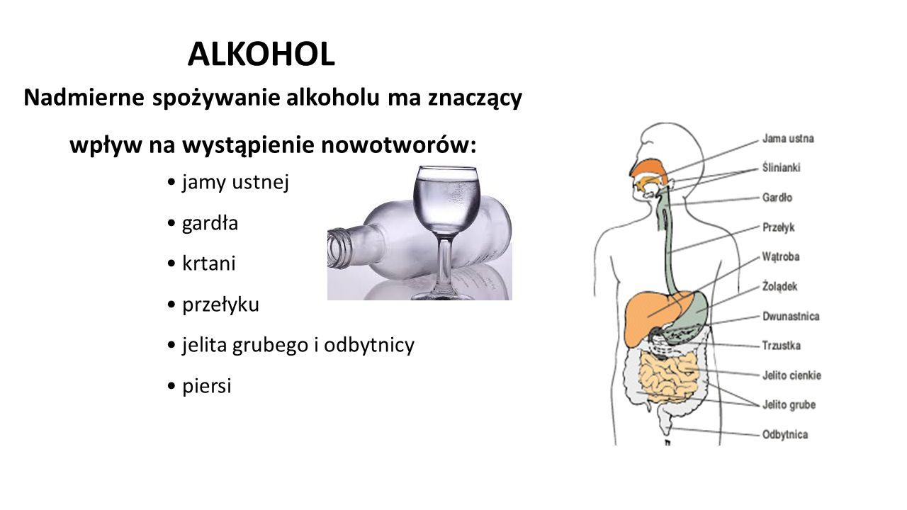 ALKOHOL Nadmierne spożywanie alkoholu ma znaczący