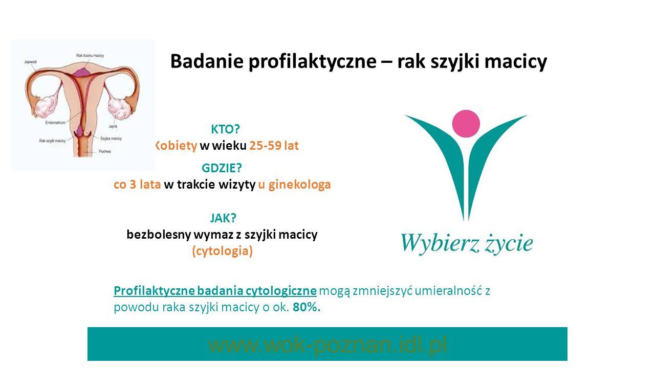 www.wok-poznan.idl.pl Badanie profilaktyczne – rak szyjki macicy KTO