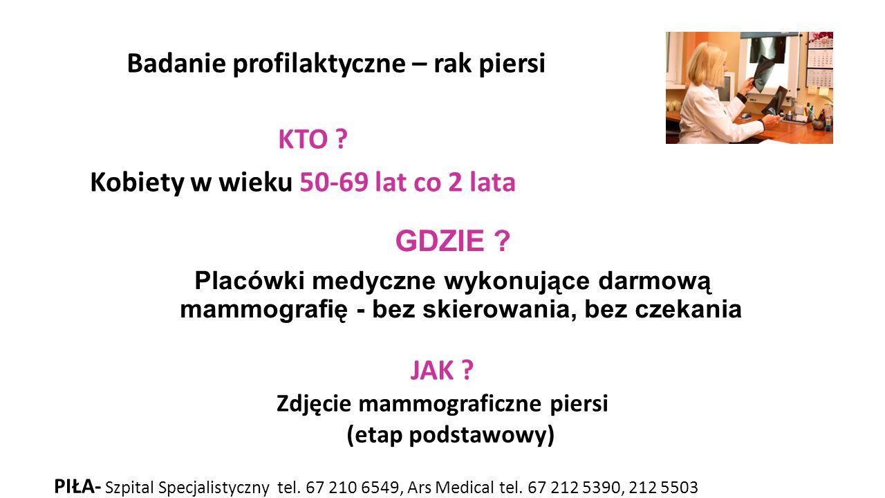 Zdjęcie mammograficzne piersi