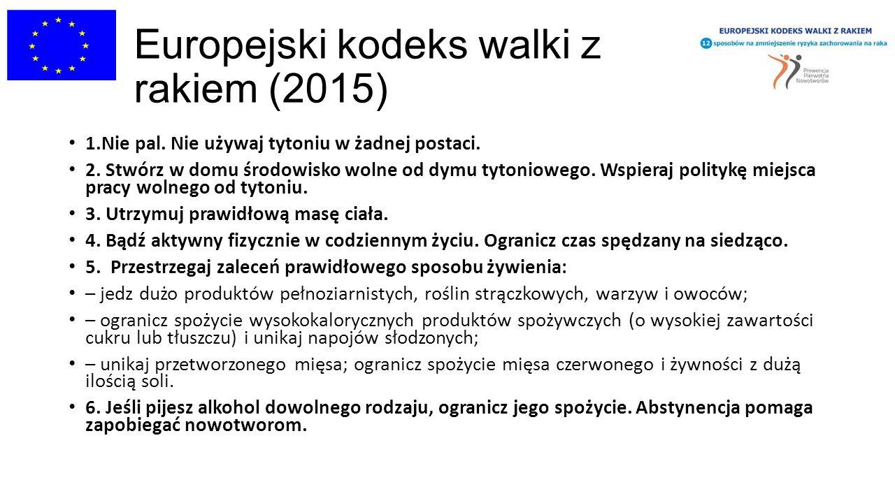 Europejski kodeks walki z rakiem (2015)