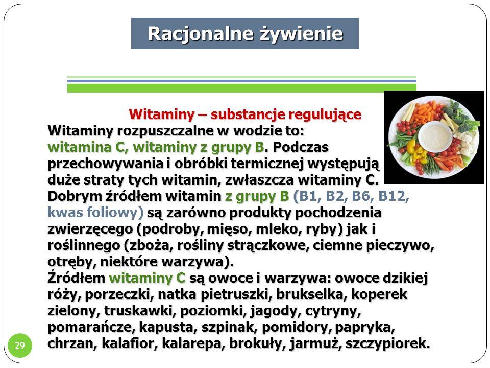 Witaminy – substancje regulujące