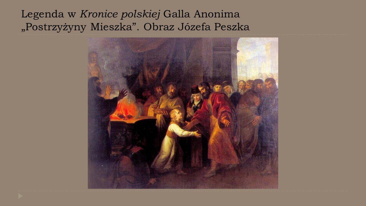 """Legenda w Kronice polskiej Galla Anonima """"Postrzyżyny Mieszka"""
