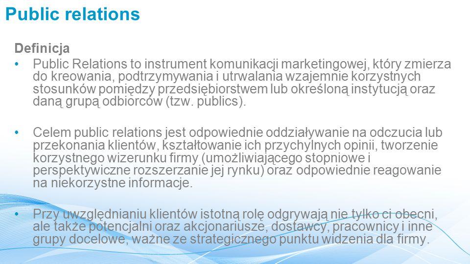 Public relations Definicja
