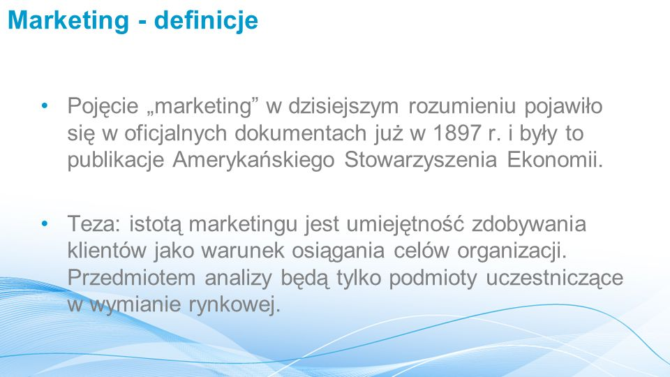 Marketing - definicje