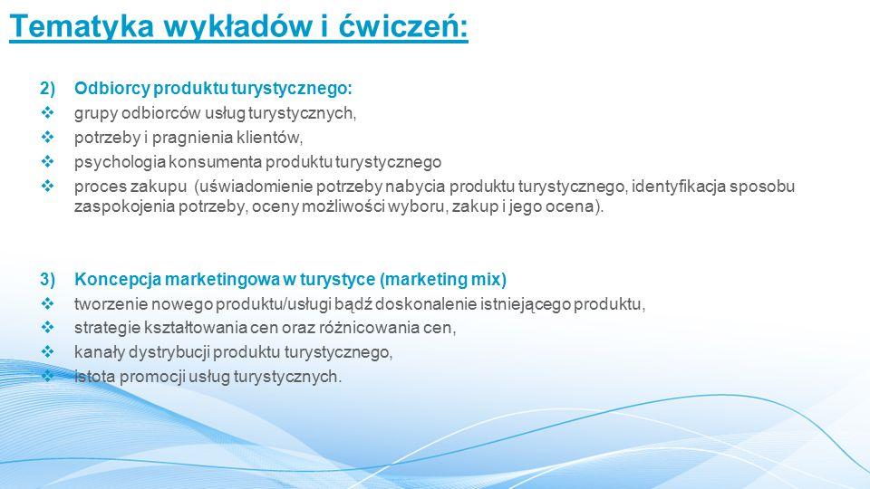 Tematyka wykładów i ćwiczeń: