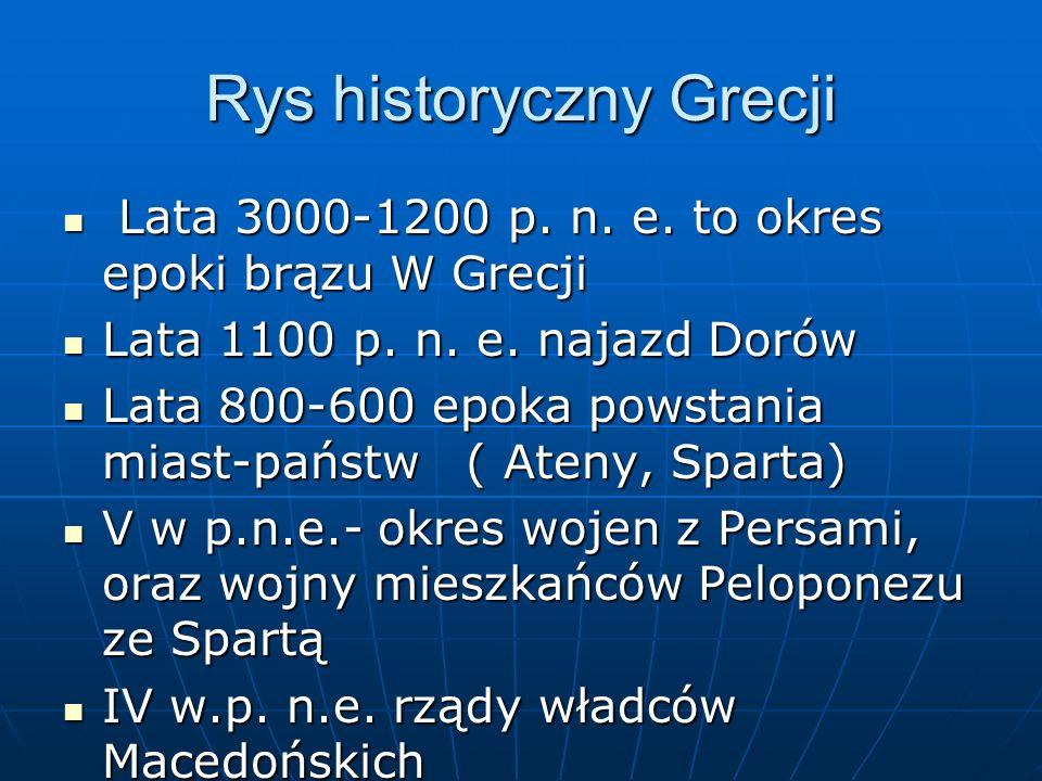 Rys historyczny Grecji