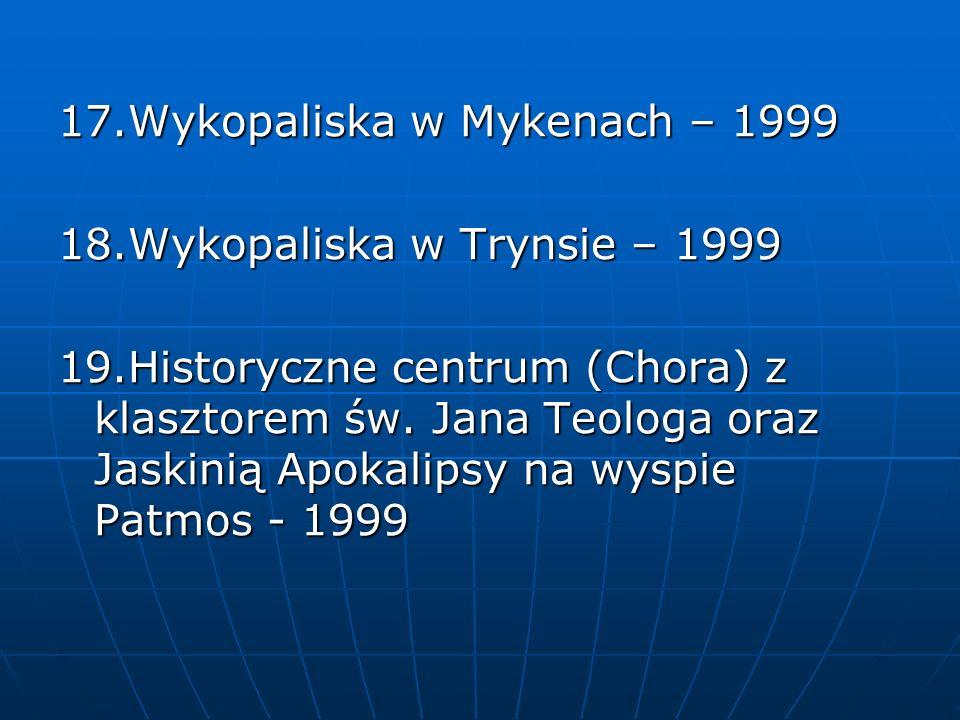 17.Wykopaliska w Mykenach – 1999