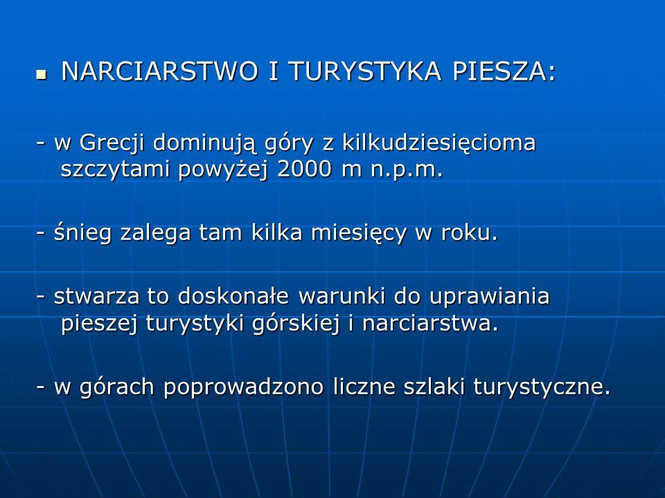 NARCIARSTWO I TURYSTYKA PIESZA: