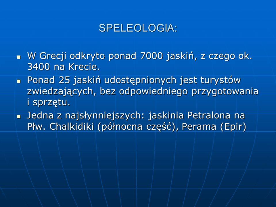 SPELEOLOGIA: W Grecji odkryto ponad 7000 jaskiń, z czego ok. 3400 na Krecie.