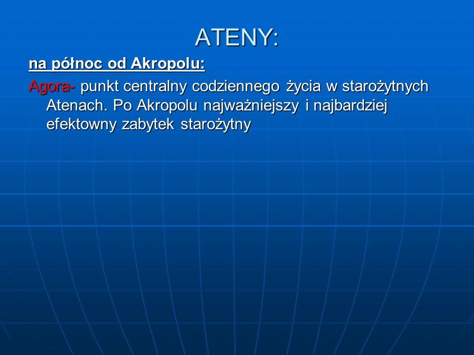 ATENY: na północ od Akropolu: