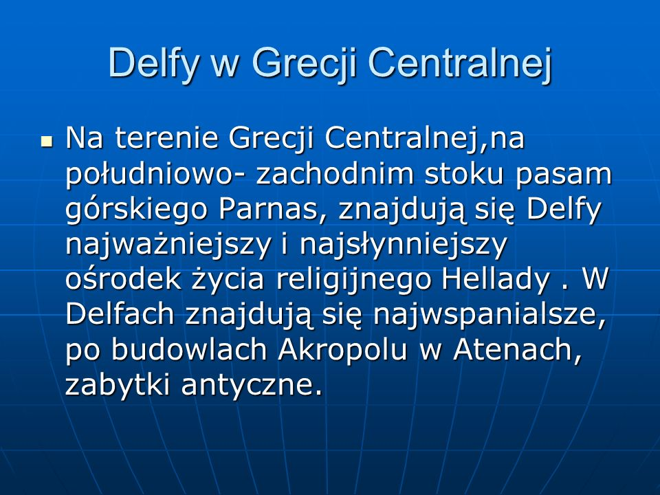 Delfy w Grecji Centralnej