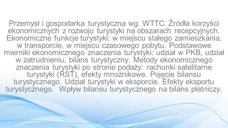 Przemysł i gospodarka turystyczna wg. WTTC