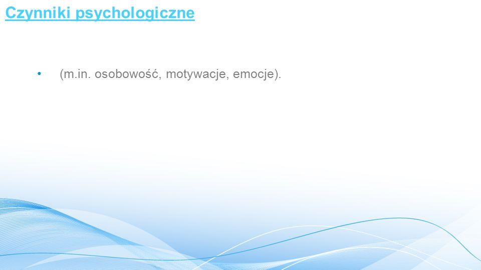 Czynniki psychologiczne