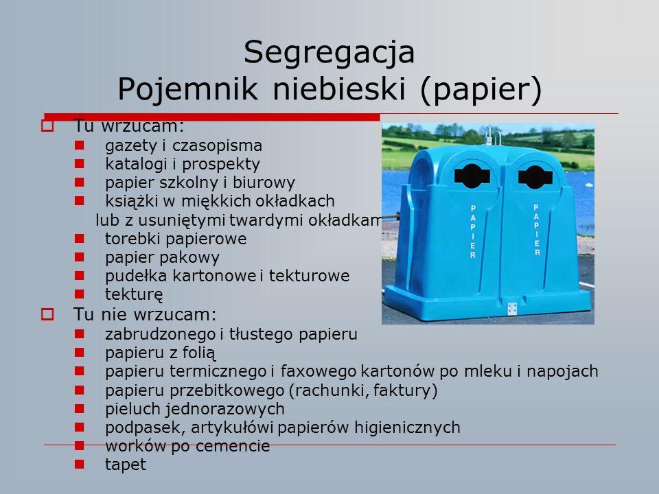 Segregacja Pojemnik niebieski (papier)