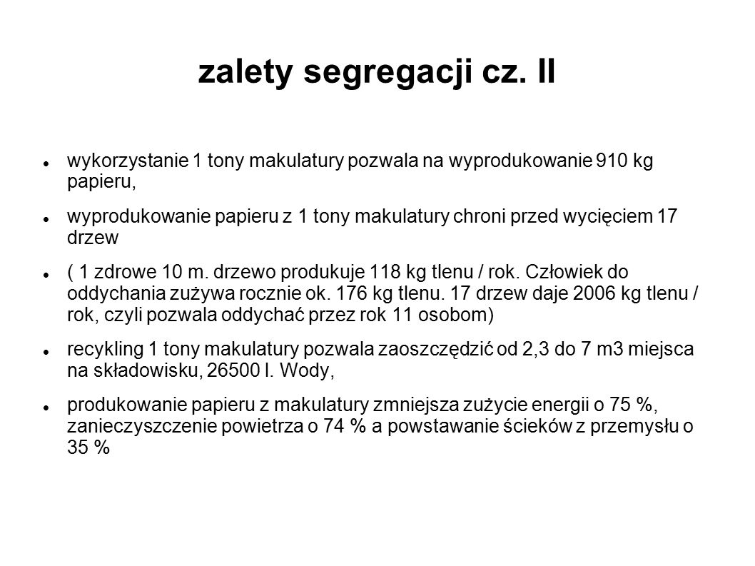 zalety segregacji cz. II