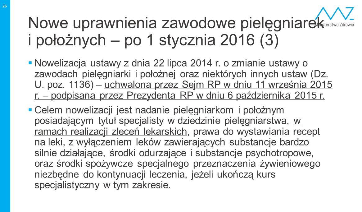 Nowe uprawnienia zawodowe pielęgniarek i położnych – po 1 stycznia 2016 (3)