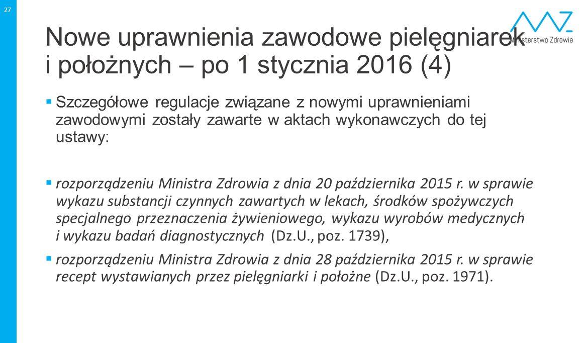 Nowe uprawnienia zawodowe pielęgniarek i położnych – po 1 stycznia 2016 (4)