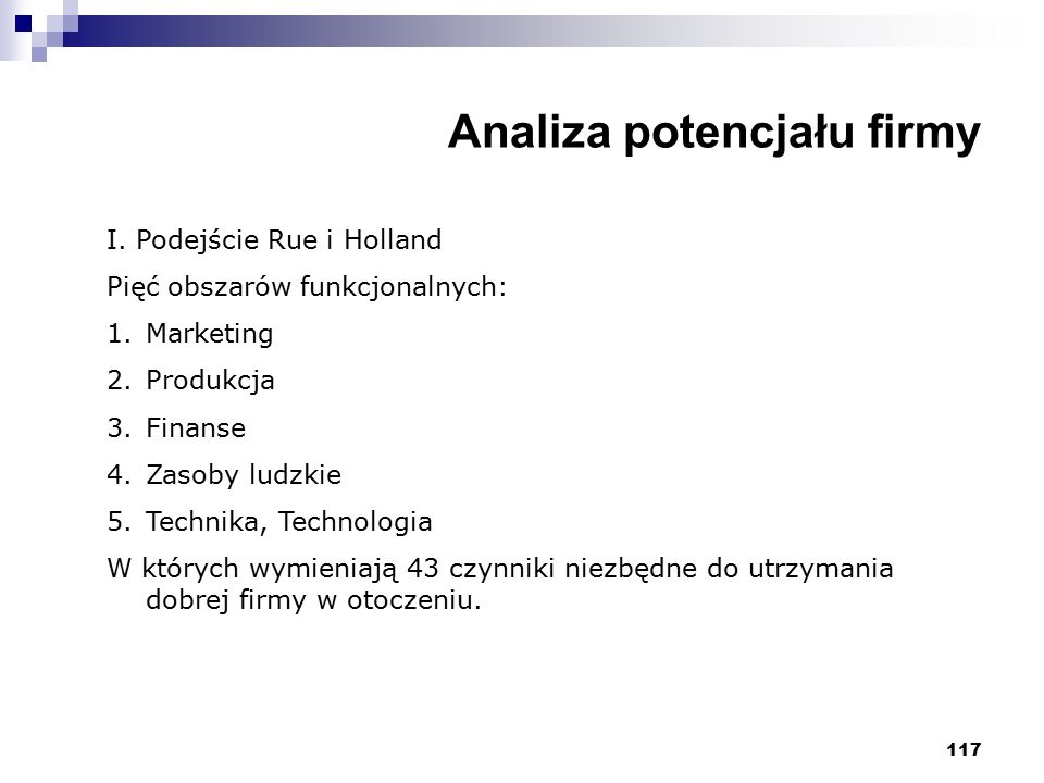 Analiza potencjału firmy