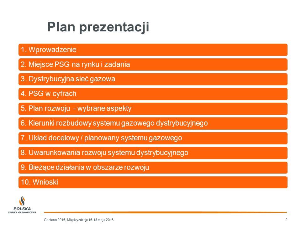 Plan prezentacji 1. Wprowadzenie 2. Miejsce PSG na rynku i zadania