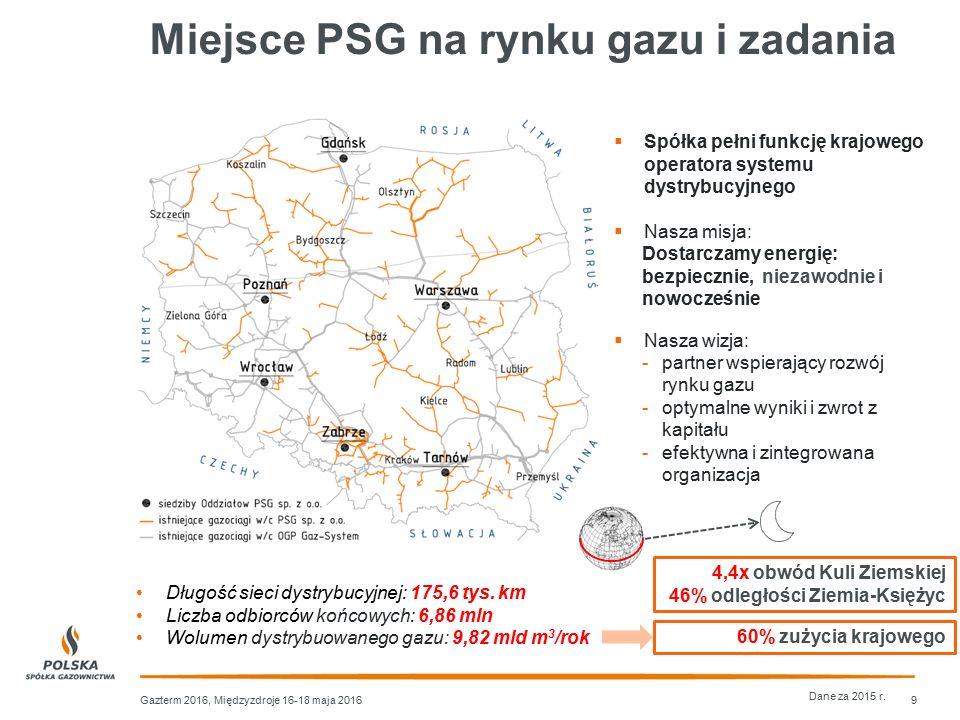 Miejsce PSG na rynku gazu i zadania