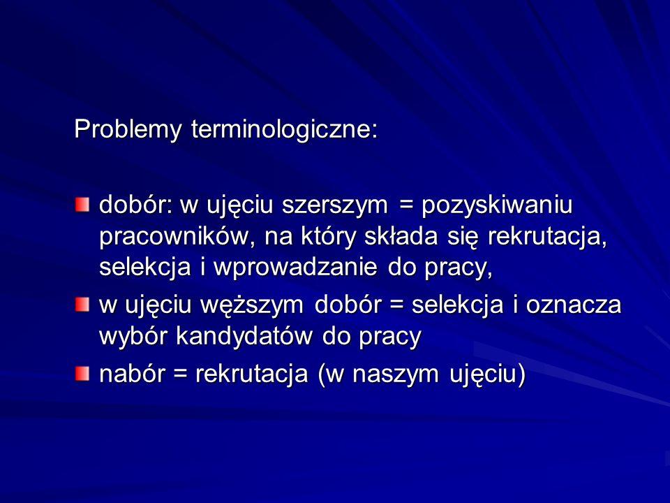 Problemy terminologiczne: