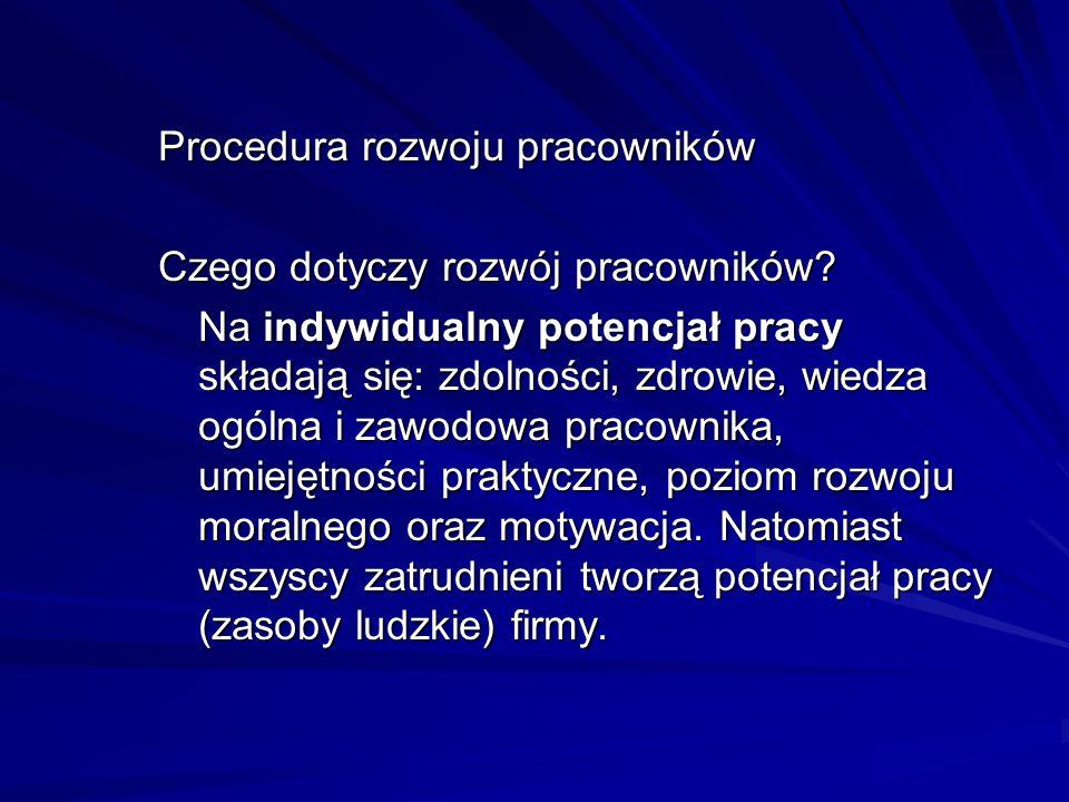 Procedura rozwoju pracowników