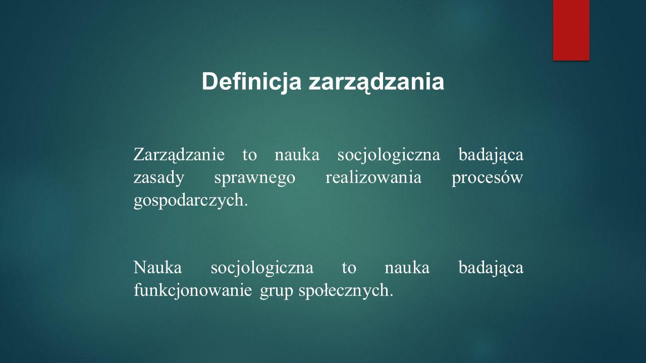 Definicja zarządzania