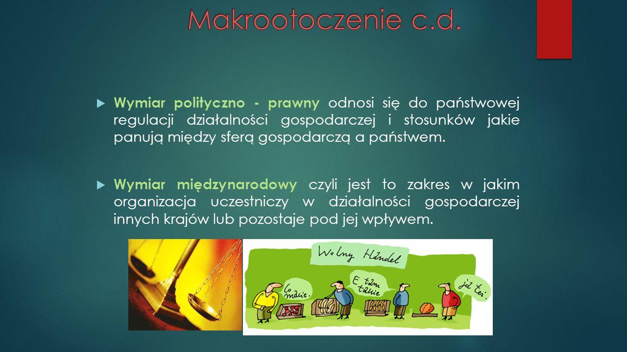 Makrootoczenie c.d.