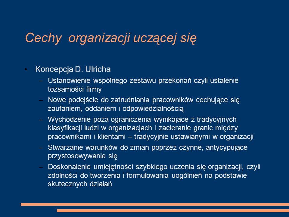 Cechy organizacji uczącej się