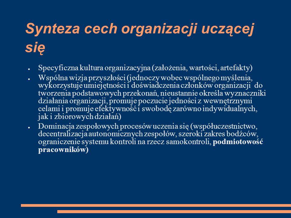 Synteza cech organizacji uczącej się