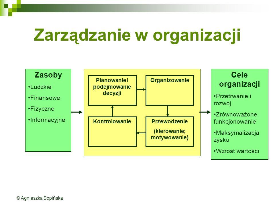 Zarządzanie w organizacji