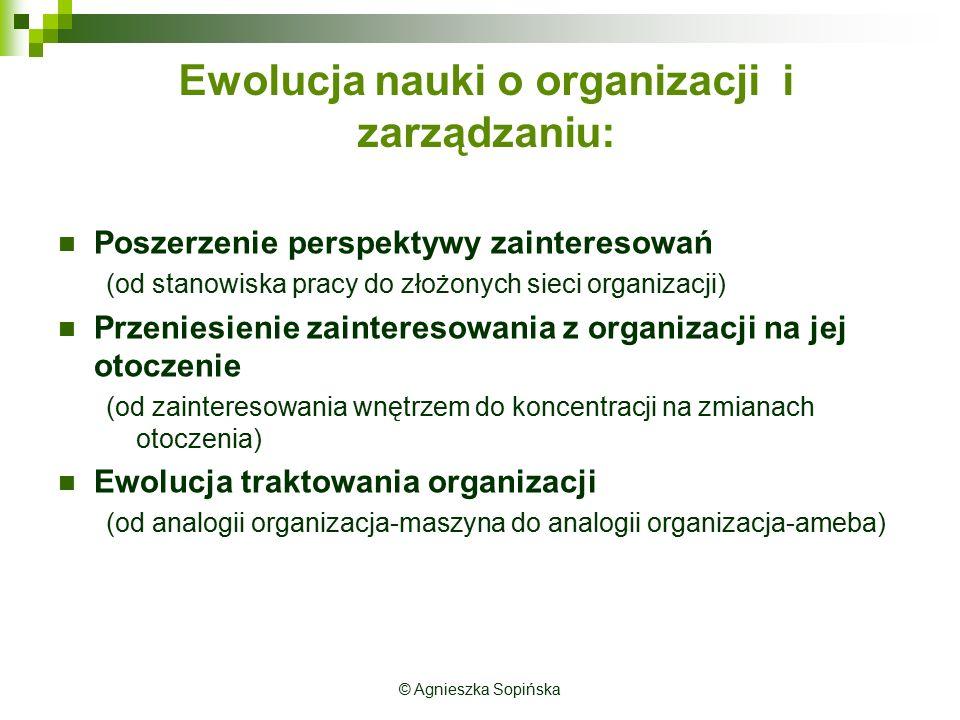 Ewolucja nauki o organizacji i zarządzaniu: