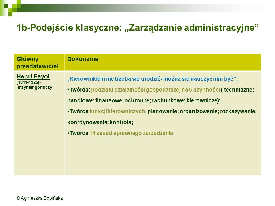 """1b-Podejście klasyczne: """"Zarządzanie administracyjne"""
