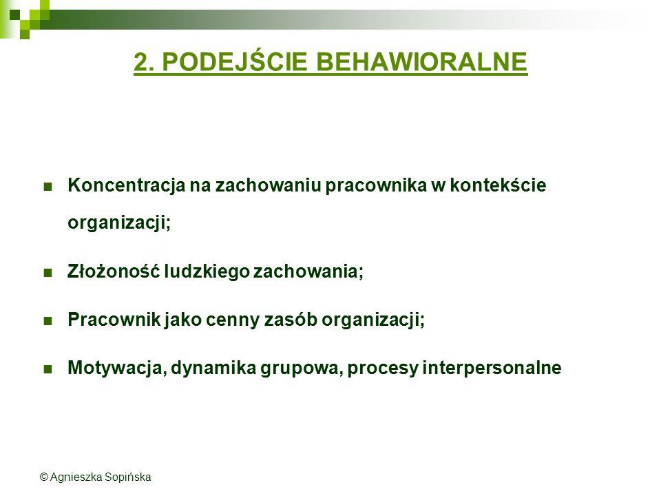 2. PODEJŚCIE BEHAWIORALNE