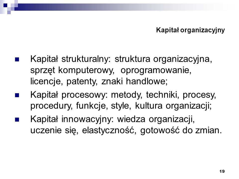 Kapitał organizacyjny