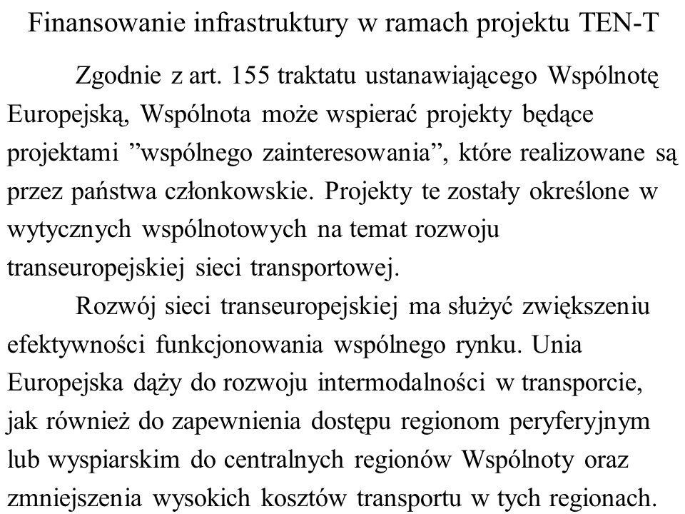 Finansowanie infrastruktury w ramach projektu TEN-T