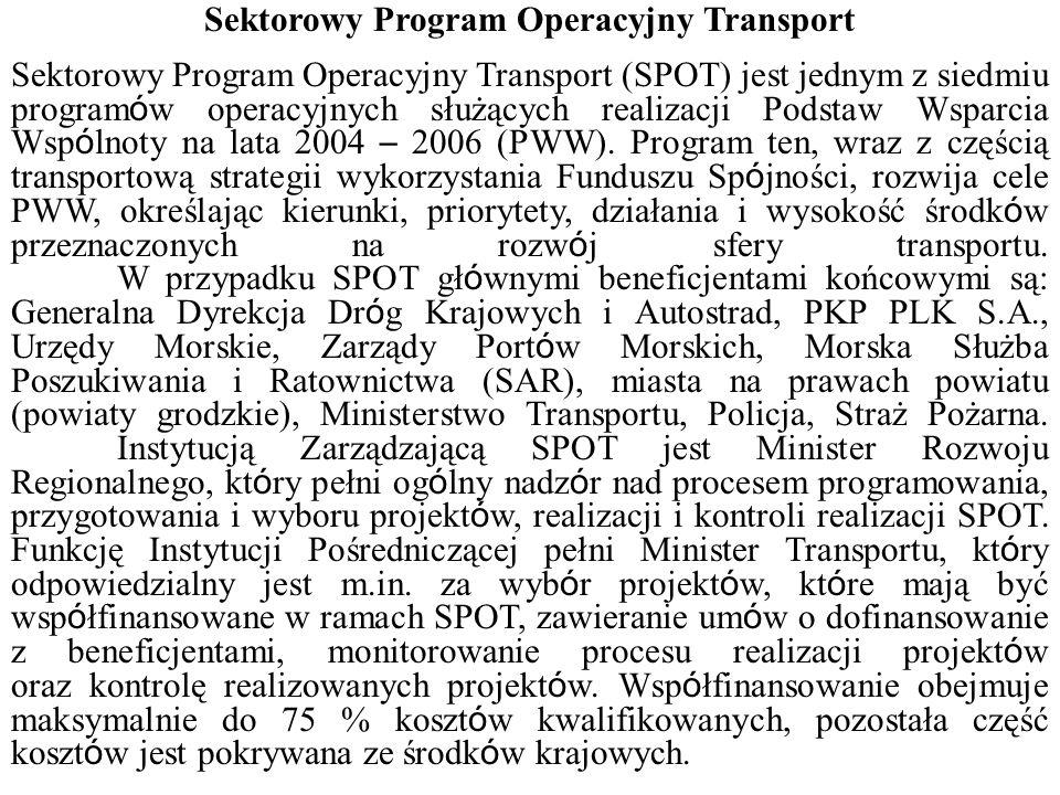 Sektorowy Program Operacyjny Transport