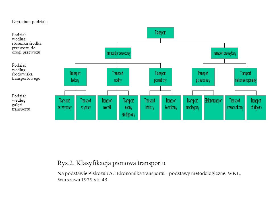 Rys.2. Klasyfikacja pionowa transportu