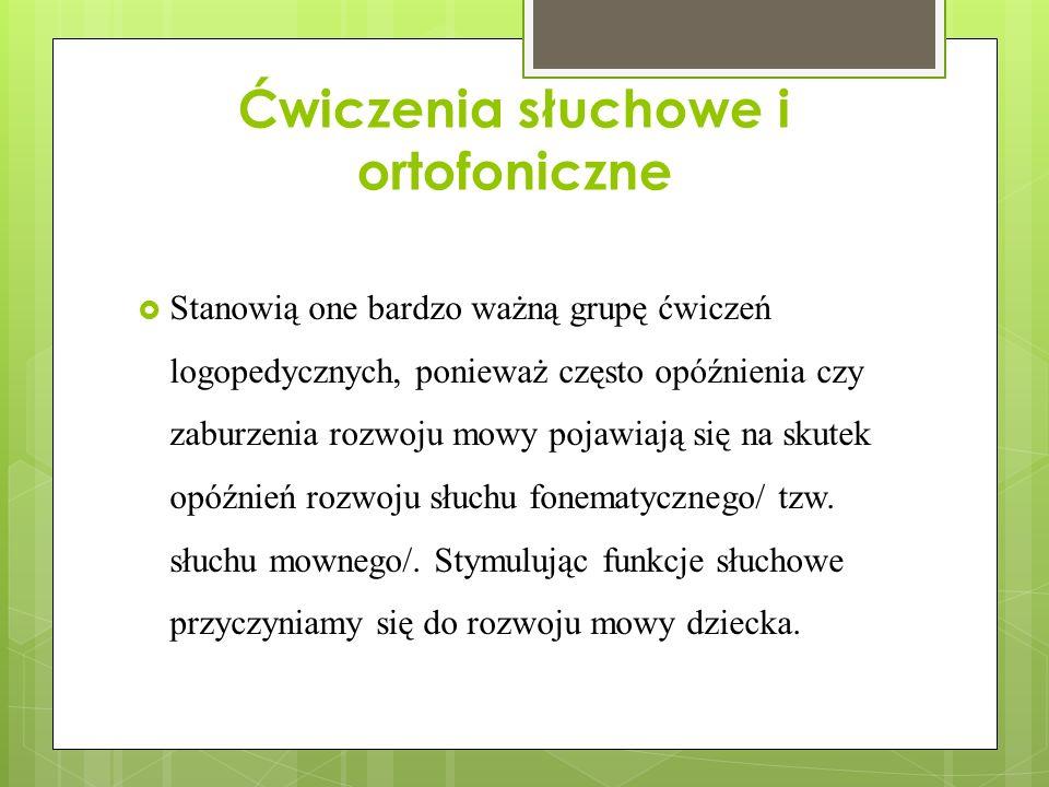 Ćwiczenia słuchowe i ortofoniczne