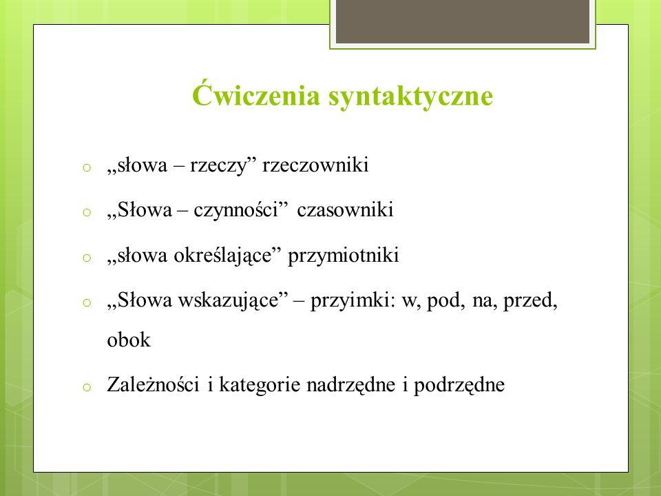 Ćwiczenia syntaktyczne