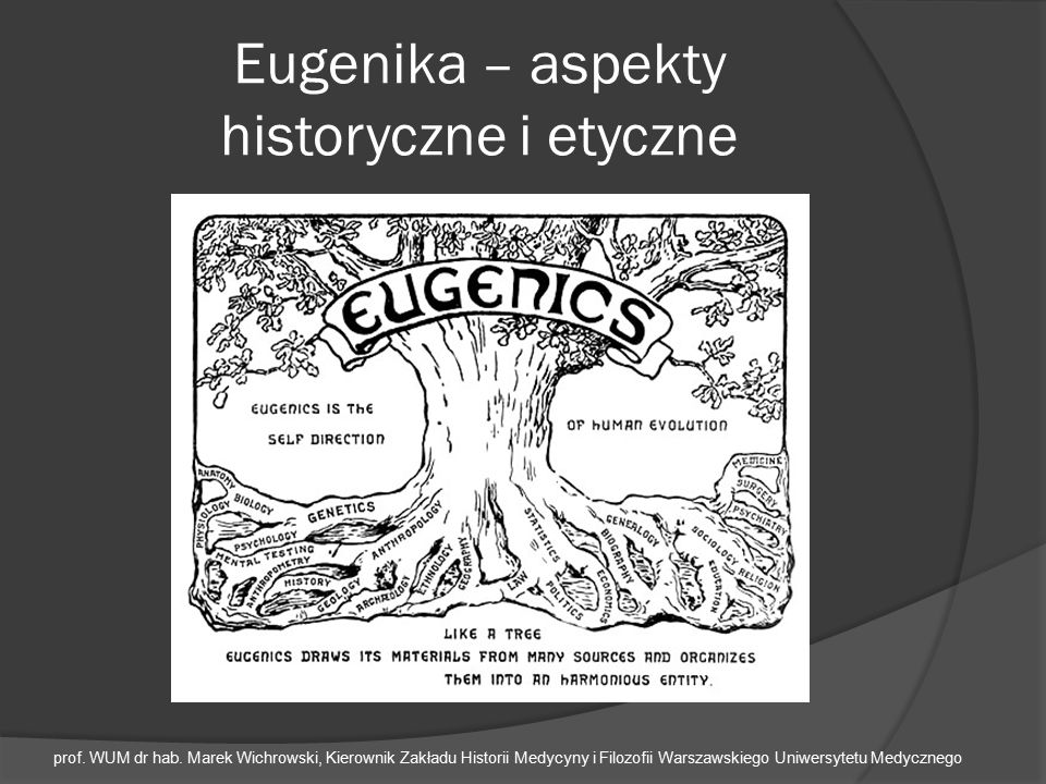 Eugenika – aspekty historyczne i etyczne