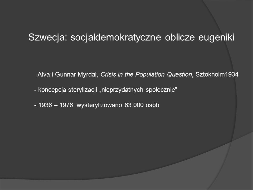 Szwecja: socjaldemokratyczne oblicze eugeniki