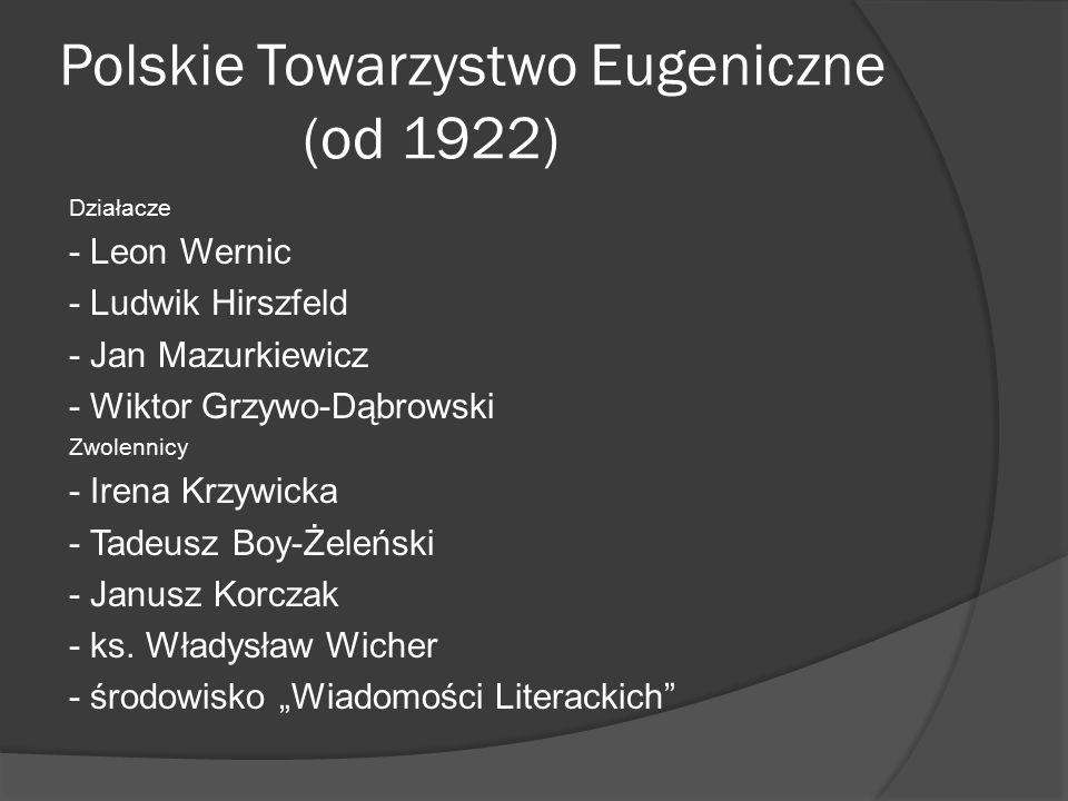 Polskie Towarzystwo Eugeniczne (od 1922)