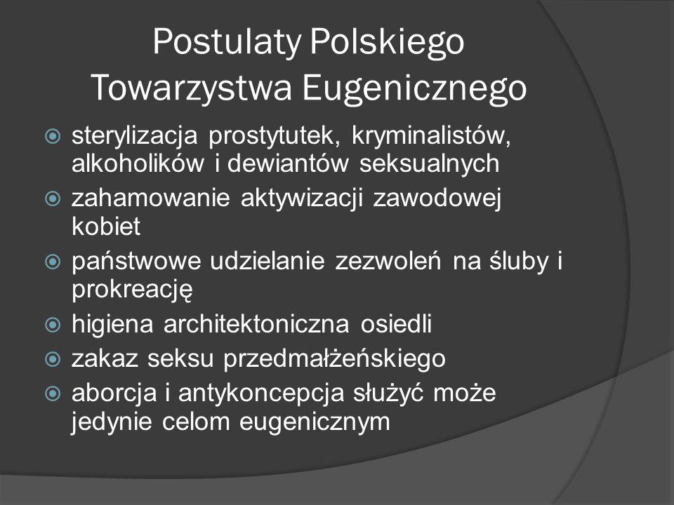 Postulaty Polskiego Towarzystwa Eugenicznego