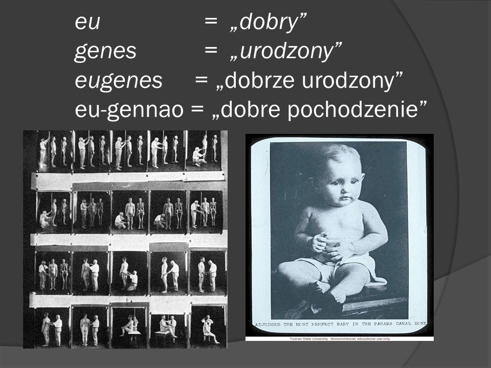 """eu. = """"dobry . genes. = """"urodzony . eugenes = """"dobrze urodzony"""
